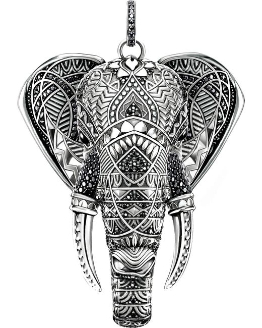 Thomas Sabo - Metallic Elephant Head Sterling Silver - Lyst