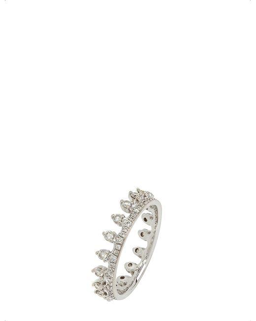 Annoushka - Metallic 18ct White Gold And Diamond Crown Ring - Lyst