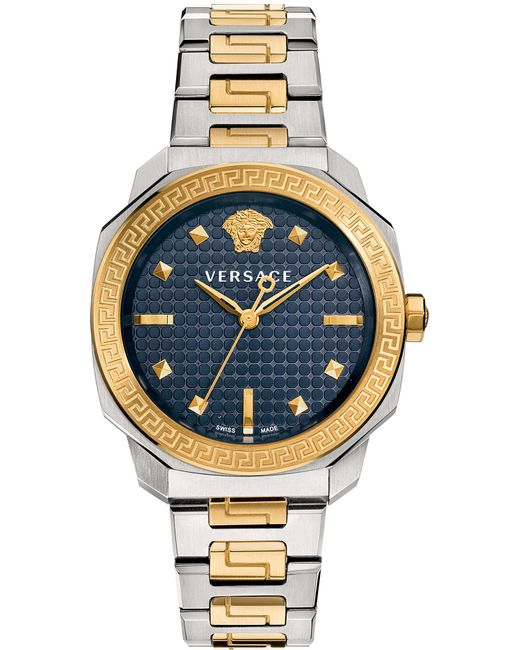 Versace   Blue Vqd140016 Dylos Two Tone Watch   Lyst
