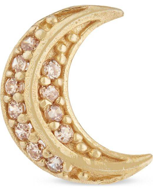 Marc Jacobs | Metallic Crescent Moon Stud Earring | Lyst