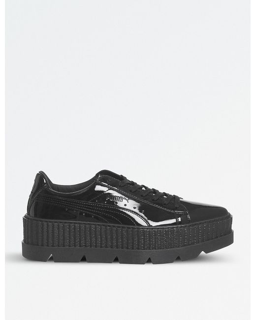 PUMA - Black Fenty Patent-leather Cleated Creepers - Lyst