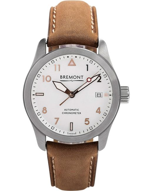 Bremont - Metallic 37rg Solo Stainless Steel And Leather Watch - Lyst