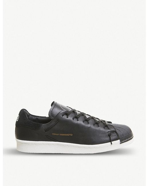 5d8da2d9f Y-3 Y-3 Super Knot Leather Trainers in Black for Men - Lyst