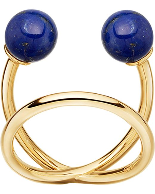 Astley Clarke | Yves Yellow-gold Vermeil And Lapis Ring | Lyst