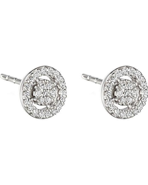 Astley Clarke | Mini Icon Aura 14ct White Gold And Diamond Stud Earrings | Lyst