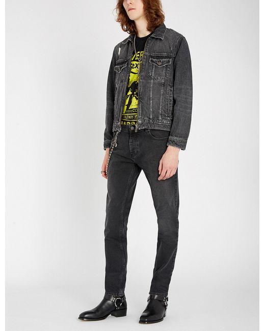 b9237c9b84834b The Kooples - Multicolor Distressed Denim Jacket for Men - Lyst