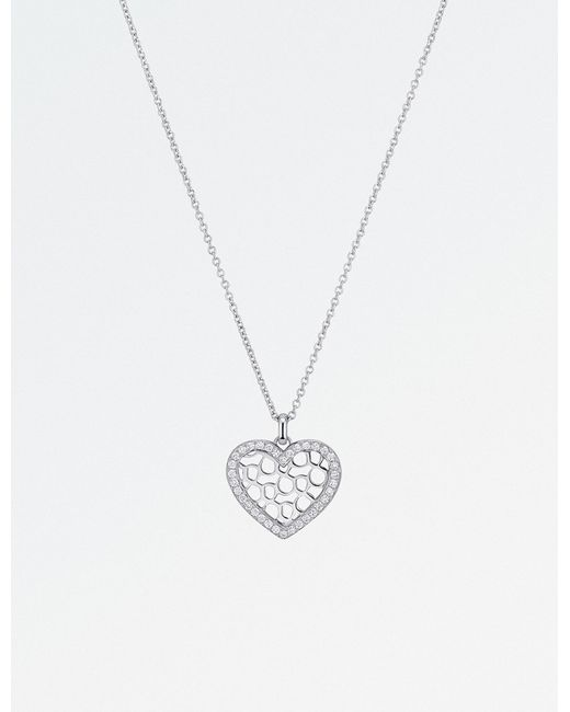 BUCHERER JEWELLERY - Metallic Infinite Love 18ct White Gold Diamond Pendant Necklace - Lyst