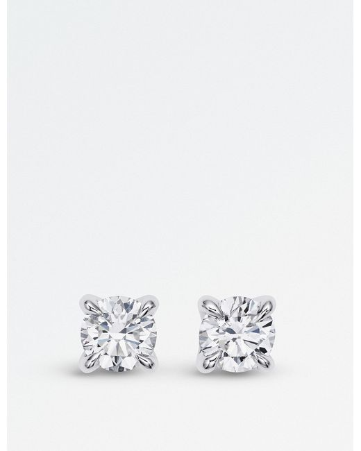 BUCHERER JEWELLERY - Joy Solitaire 18ct White-gold And Diamond Earrings - Lyst