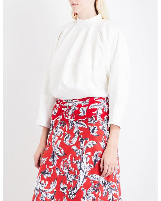 J.W. Anderson | White Dolman-sleeve Cotton-drill Top | Lyst