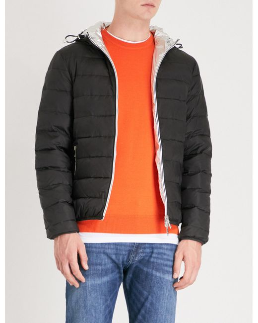 Emporio Armani - Black Reversible Padded Shell-down Jacket for Men - Lyst