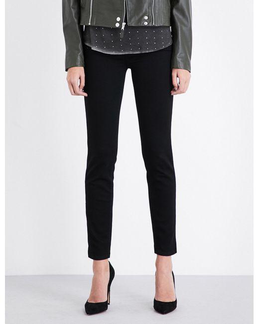 PAIGE - Black Skyline Ankle Peg Skinny Mid-rise Jeans - Lyst