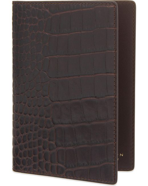 Smythson - Brown Mara Leather Passport Cover for Men - Lyst