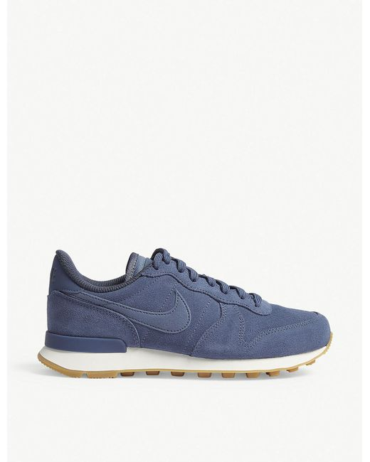 Nike - Blue Internationalist Suede Trainers for Men - Lyst