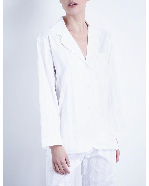 Bodas   White Cotton Pyjama Shirt   Lyst