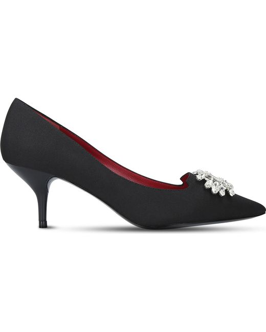 Kurt Geiger - Black Pia Embellished Courts - Lyst
