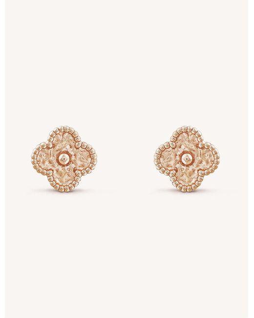 Van Cleef & Arpels - Metallic Sweet Alhambra Gold Stud Earrings - Lyst