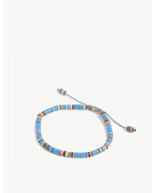 M. Cohen - Blue African Vinyl Bracelet - Lyst
