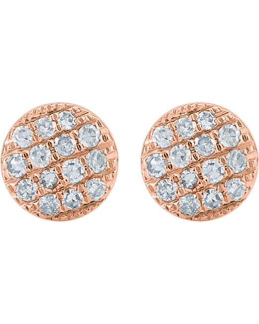 The Alkemistry - Black Lauren Joy Mini 14ct Rose-gold And Diamond Earrings - Lyst