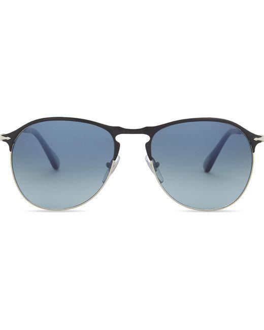 Persol - Black Po7649s Round-frame Sunglasses - Lyst