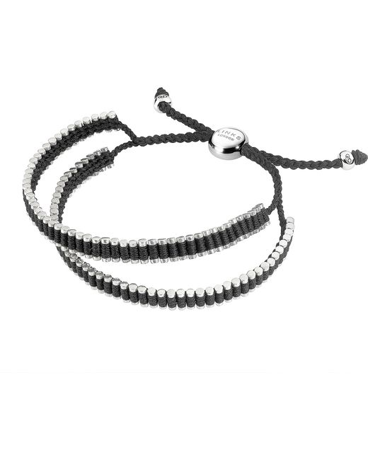 Links of London   Double Wrap Friendship Bracelet - Black   Lyst