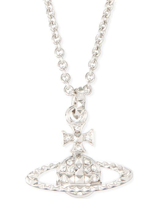 Vivienne Westwood - Metallic Mayfair Bas Relief Pendant, Women's, Crystal/rhodium - Lyst