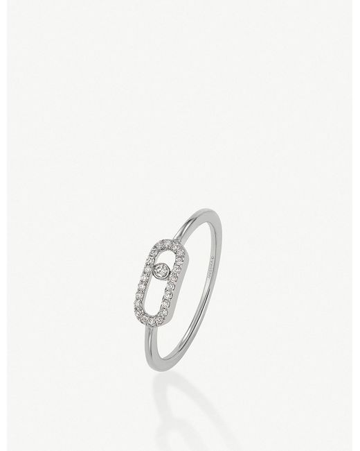 Messika - Move Uno 18ct White-gold And Diamond Ring - Lyst