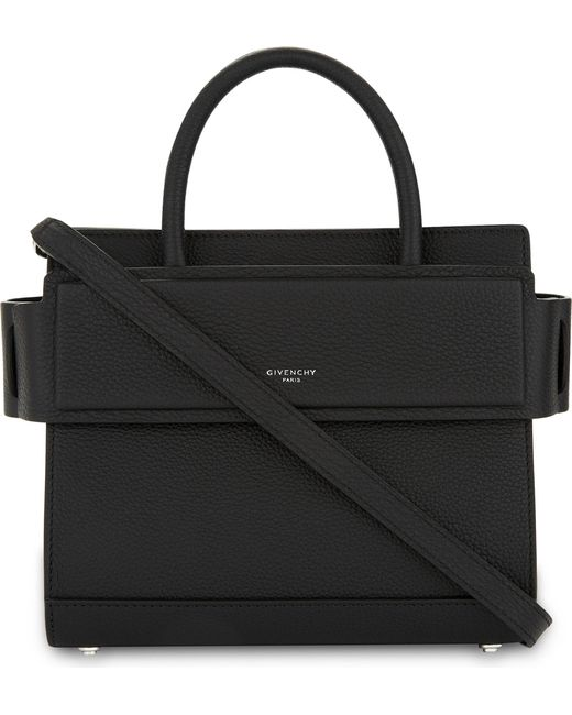 Givenchy - Black Mini Horizon Grained Calfskin Leather Tote - Lyst