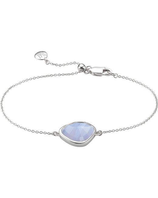 Monica Vinader | Metallic Siren Nugget Sterling Silver And Blue Lace Agate Bracelet | Lyst