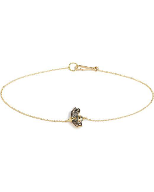 Annoushka - Love Diamonds 18ct Yellow-gold Bee Bracelet - Lyst