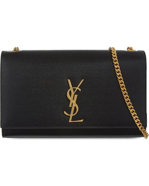 Saint Laurent - Black Monogram Medium Leather Shoulder Bag - Lyst