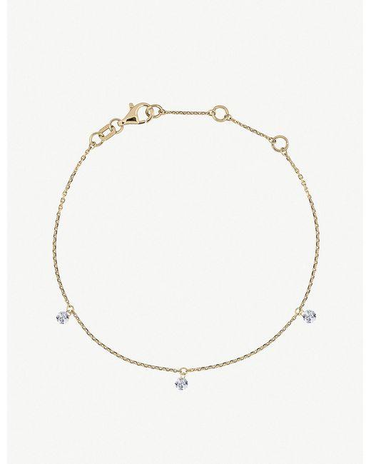 The Alkemistry - Metallic Triple Drilled Diamonds 18ct Yellow-gold And Diamond Bracelet - Lyst