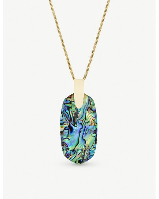 Kendra Scott - Metallic Inez 14ct Gold-plated And Abalone Shell Necklace - Lyst