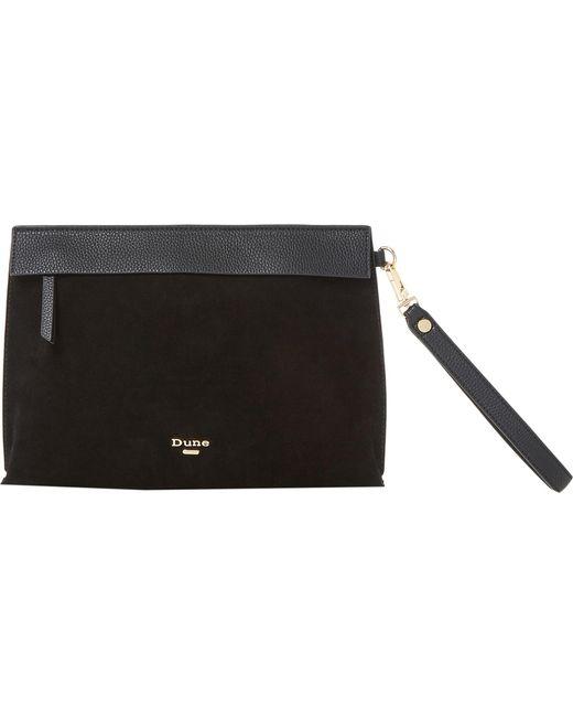 Dune - Black Eharriet Faux-leather Clutch Bag - Lyst