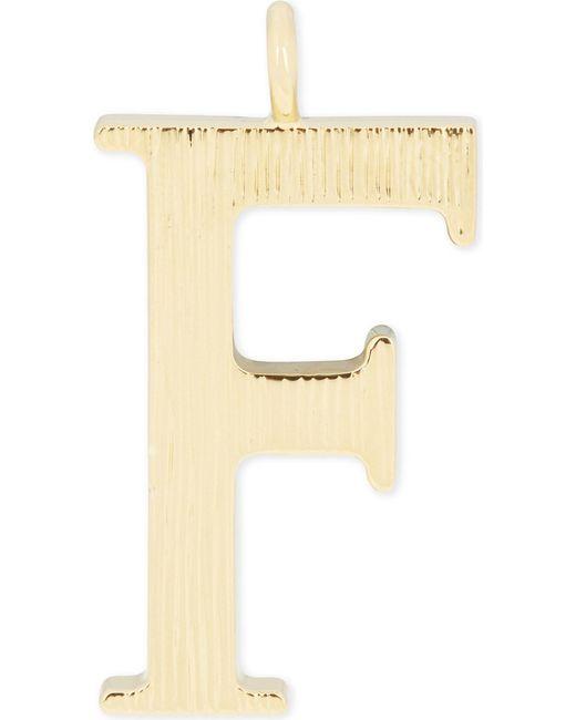Chloé | Metallic Alphabet F Pendant | Lyst