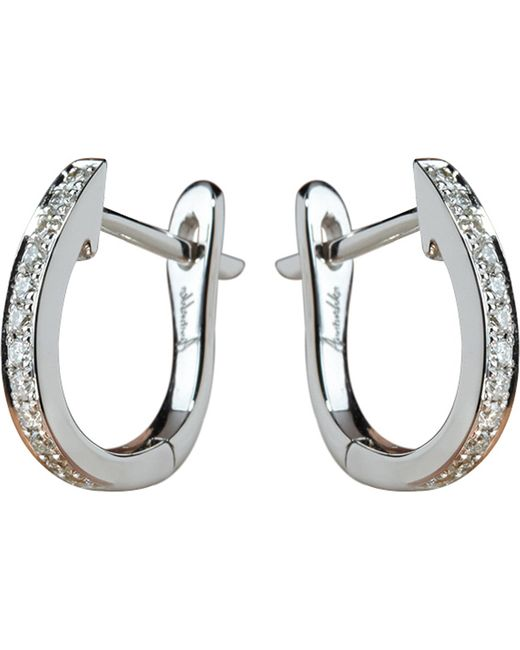 Annoushka - Metallic Eclipse 18ct White Gold And Diamond Hoop Earrings - Lyst