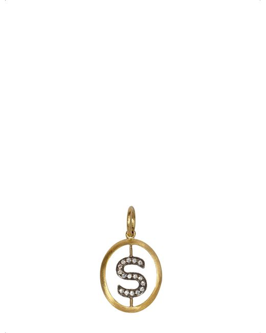Annoushka - Metallic 18ct Yellow-gold And Diamond S Pendant - Lyst