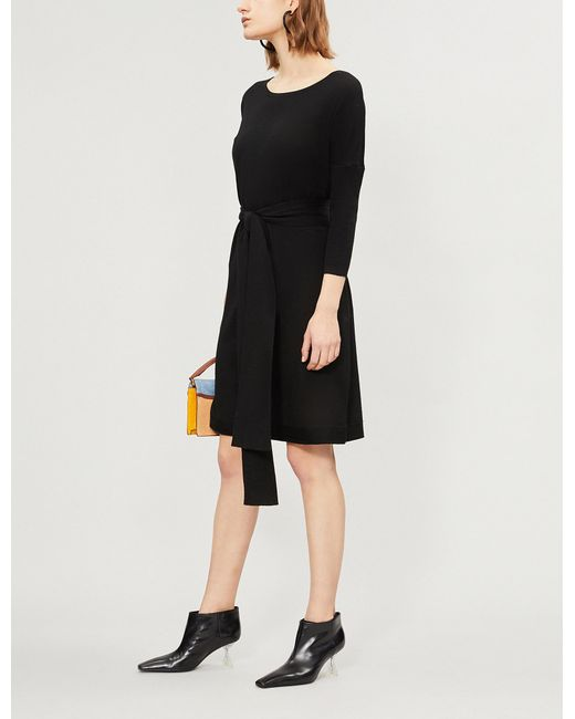 Diane von Furstenberg - Black Carolyn Wool Dress - Lyst
