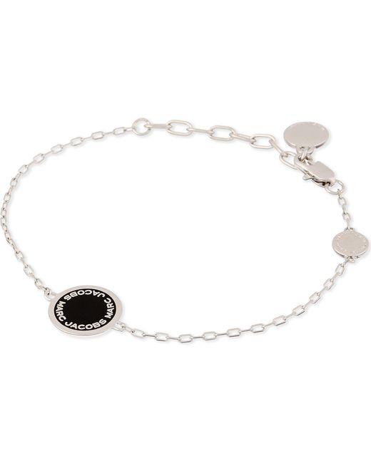 Marc Jacobs - Metallic Enamel Logo Disc Bracelet - Lyst