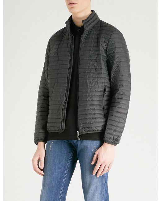 Emporio Armani - Gray Quilted Shell-down Jacket for Men - Lyst