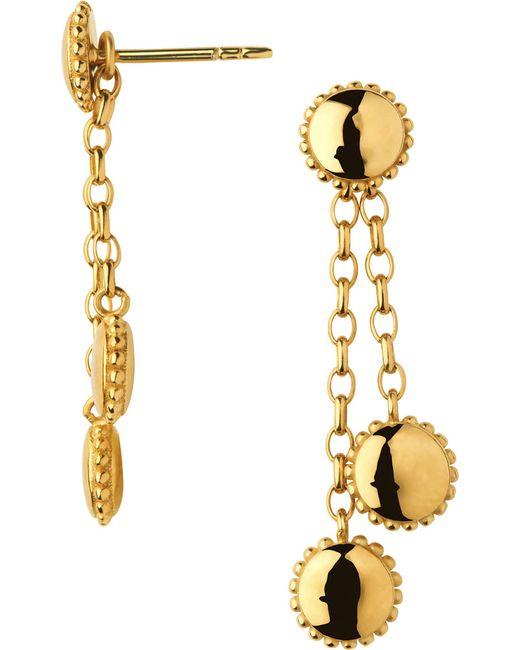 Links of London | Metallic Amulet 18ct Gold Vermeil Drop Earrings | Lyst