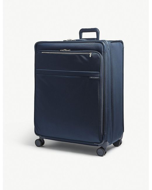 Briggs & Riley - Navy Blue Baseline Xl Expandable Suitcase for Men - Lyst