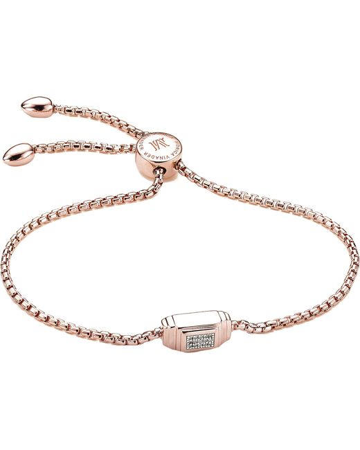 Monica Vinader - Metallic Baja Deco 18ct Rose Gold And Diamond Bracelet - Lyst