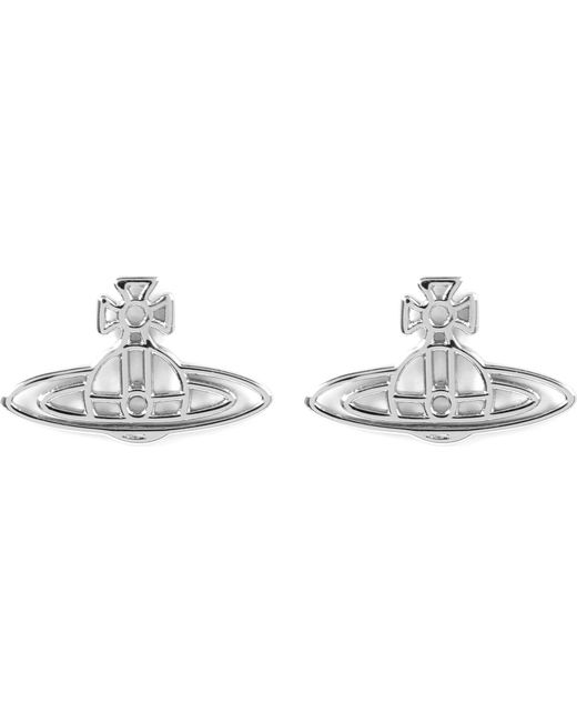 Vivienne Westwood - Metallic Thin Lines Flat Orb Stud Earrings - Lyst