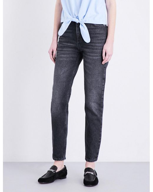 Claudie Pierlot | Blue Pampa Straight High-rise Jeans | Lyst