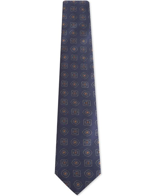 Canali | Blue Large Tile Silk Tie for Men | Lyst