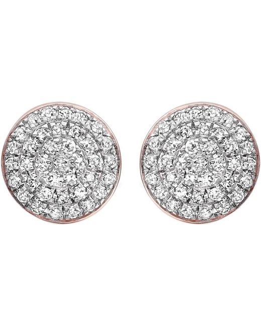 Monica Vinader - Metallic Ava 18ct Rose Gold-plated And Diamond Button Stud Earrings - Lyst