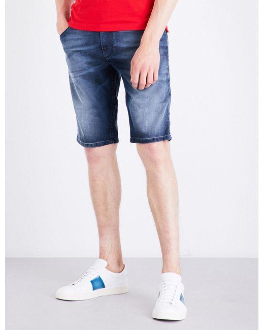 DIESEL   Blue Krooshort-ne Stretch Shorts for Men   Lyst