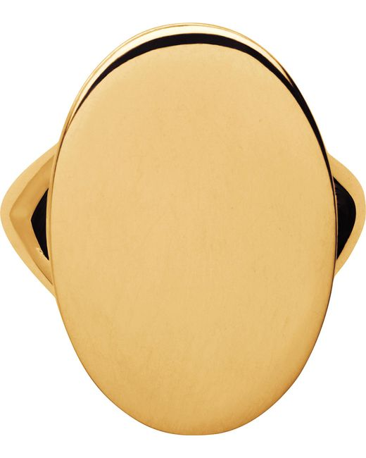 Links of London | Metallic Narrative Oval 18ct Gold Vermeil Ring | Lyst