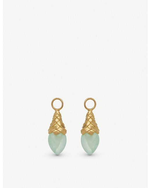 Annoushka - 18ct Yellow Gold And Jade Pendants - Lyst
