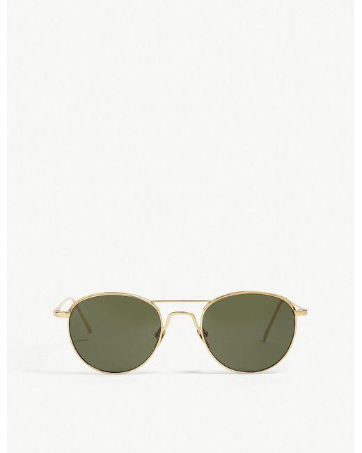 Linda Farrow - Green Lfl623 Oval-frame Sunglasses - Lyst
